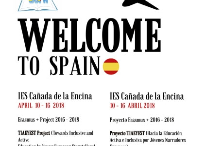 ERASMUS+  3rd TEACHING/LEARNING ACTIVITY Iniesta, SPAIN 10th-15th April 2018